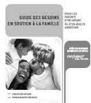 Guide des besoins en soutien à la famille